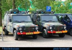 2 Mercedes-Benz build by Akkermans of the Royal Netherlands Army Bomb Disposal Unit. Picture was taken during an open day in Military Vehicles, Netherlands, Mercedes Benz, Dutch, Army, The Unit, Pictures, Mercedes G Class, First Grade