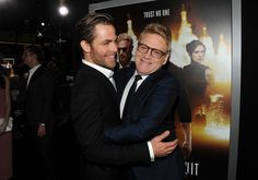 Actor Chris Pine (L) and director/actor Kenneth Branagh arrive at the premiere of Paramount Pictures' 'Jack Ryan: Shadow Recruit' at TCL Chinese Theatre on January 15, 2014 in Hollywood, California.