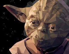 Low Poly Illustration / Yoda