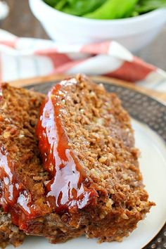 This Meatloaf Recipe is my family's FAVORITE Sunday night dinner! It really is the Best Ever Meatloaf, and it is incredibly easy to make. So much flavor packed inside with a delicious glaze spread on the top! Plus it's gluten-free! Best Easy Meatloaf Recipe, Meat Loaf Recipe Easy, Best Meatloaf, Meatloaf Recipes, Meat Recipes, Cooking Recipes, One Pound Meatloaf Recipe, Chicken Meatloaf, Amish Recipes