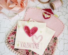 Mini Valentine's Day Card by Melissa Phillips for Papertrey Ink (January 2016)