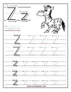 Free Printable letter Z tracing worksheets for preschool.  free connect the dots alphabet writing practice worksheets for 1st graders.free letter Z worksheets for kindergarten