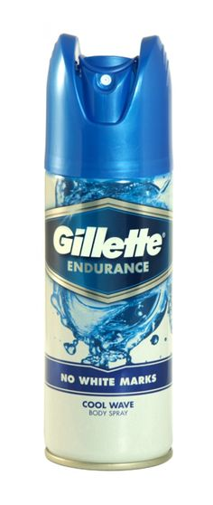 Gillette endurance no white marks body spray 150ml cool wave