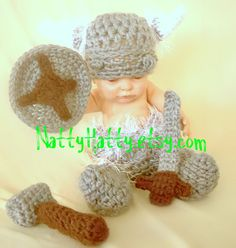 If baby is a boy, this will be a must of course. Viking hat diapercover boots sword and  shield  0 to by NattyHatty