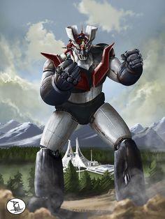 gonagaiworld: Uno stupendo Mazinga Z (e Koji Kabuto). Robot Cartoon, Japanese Robot, Japanese Superheroes, Captain Harlock, Gundam Mobile Suit, Mecha Anime, Super Robot, Comic Pictures, Retro Logos