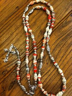 I'm going to have to merge my two crafts to try this.   Rosary made with paper beads from up-cycled 1977 book.