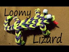 Rainbow Loom LOOMY LIZARD. Designed and loomed by Cheryl Mayberry. Click photo for YouTube tutorial. 01/19/14.