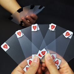 Transparent PVC Poker Playing Cards // Price: $18.95 & FREE Shipping //  We accept PayPal and Credit Cards.    #gameronboard #boardgame #cardgame #game #puzzle #maze #toys #chess #dice #kendama #playingcards #tilegames