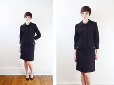 1960s Black 3/4 Dress  S by LoveCharles on Etsy, $41.00