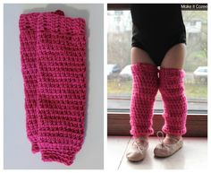 Crocheted toddler leg warmers
