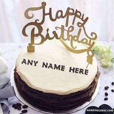Write Name On Music Birthday Cake For Boys