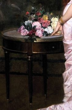 """""""The Love Letter"""" by Auuste Toulmouche Old Master, Love Painting, Love Letters, Fine Art, Lettering, Detail, Flowers, Beautiful, Home Decor"""