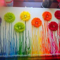 A Arte de Ensinar e Aprender: Arte com giz de cera derretido