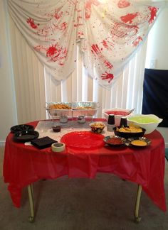 Snack table for walking dead party