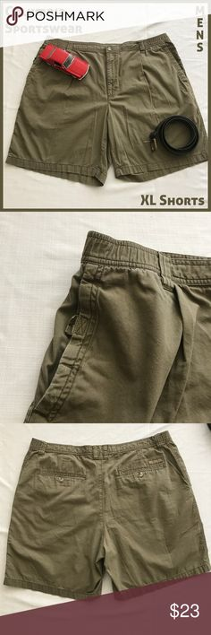 Columbia Sportswear Khaki Green Mens Shorts XL These Columbia Sportswear shorts are still in excellent condition and will make a comfortable addition to your warm weather wardrobe.   From a smoke-free and happy-to-bundle closet.  No trades or transactions outside of Poshmark. [P2101] Columbia Shorts Flat Front