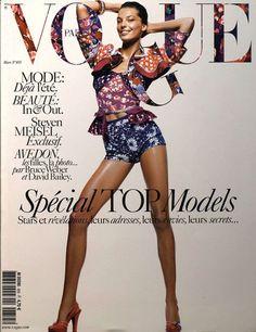 Daria Werbowy par David Sims première couverture Vogue Paris mars 2005
