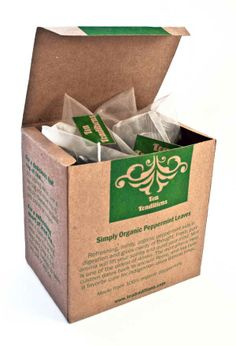 Eco-Friendly Tea Packaging - Tea Tradition - made from recycled paper - minimal ink use - one color for each flavor