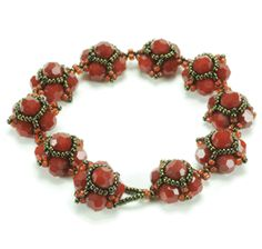 Floralee Bracelet Pattern at Sova-Enterprises.com Lots of Free Bead Patterns and Tutorials are available!