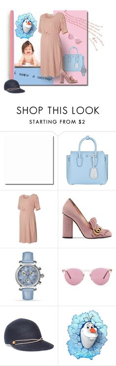 """Boo hoo - pink OR blue?"" by michelletheaflack ❤ liked on Polyvore featuring MCM, Mama.licious, Gucci, Allurez, Oliver Peoples, Eugenia Kim, Disney and pinkandblue"
