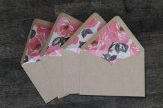 Rose-Lined Envelopes $12.00