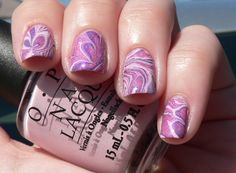OPI Mod about you (water marbling)