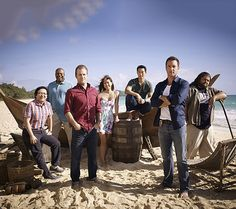 Masi Oka,Chi McBride, Scott Caan, Grace Park, Daniel Dae Kim, Alex O'Loughlin & Jorge Garcia  | The cast of Hawaii Five-0