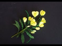 Sweet pea / lathyrus flower with crepe paper - craft tutorial