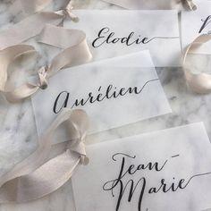 Vellum Place Cards Wedding Place Cards Place Cards Name Wedding Name Tags, Wedding Place Cards, Wedding Table, Name Place Cards, Place Names, Name Cards, Vellum Paper, Wedding Places, Packaging