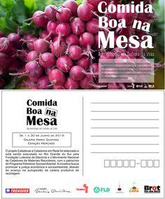 Cartão Postal (Verso) Exposição Mario Quintana - Trensurb Centro de Apoio ao Pequeno Agricultor (CAPA) Campanha comida boa na mesa