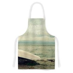 KESS InHouse Venture Out by Robin Dickinson Boat Artistic Apron