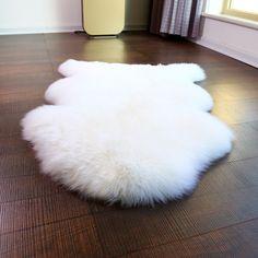 Sheepskin fur rug for home decorational one pelt sheep skin rug for living room bedroom 70*100cm Super quality 1P fur carpet