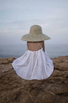 White Reversible Dress Popelin