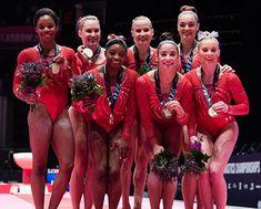 USA Gymnastics | U.S. Women's World Team wins Best of October team honors for Team USA Awards presented by Dow Team Usa Gymnastics, Gymnastics World, Gymnastics Posters, Gymnastics Pictures, Artistic Gymnastics, Olympic Gymnastics, Olympic Team, Olympic Games, Usa Olympics