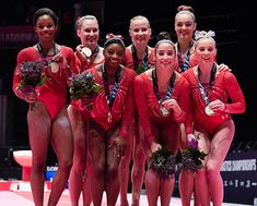 USA Gymnastics | U.S. Women's World Team wins Best of October team honors for Team USA Awards presented by Dow