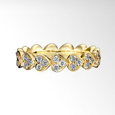STAR JEWELRY |HEART ROUND HALF ETERNITY RING(L): リング