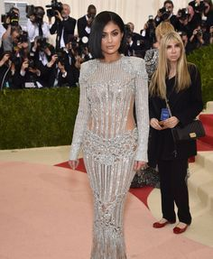 "Kylie Jenner in Balmain 2016 Met Gala, ""Manus x Machina: Fashion in an Age of Technology"