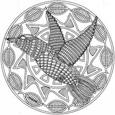 Here are Difficult Mandalas Coloring pages for adults to print for free. Mandala is a Sanskrit word which means a circle, and metaphorically a universe, environment or community. Bird Coloring Pages, Free Coloring Sheets, Mandala Coloring Pages, Printable Coloring Pages, Coloring For Kids, Adult Coloring Pages, Coloring Books, Mandalas Painting, Mandalas Drawing