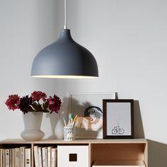 Hanglamp Leona - donkergrijs 1 lichtbron | home24.nl