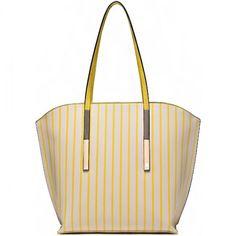 Designer Inspired Striped Spring Tote – Handbag-Addict.com