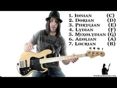 Bass Lesson - Beginner's Guide to Scales and Modes (The Bass Wizard) Bass Guitar Scales, Learn Bass Guitar, Bass Ukulele, Bass Guitar Lessons, Ukulele Chords, Music Lessons, Guitar Pedals, Music Theory Guitar, Music Chords
