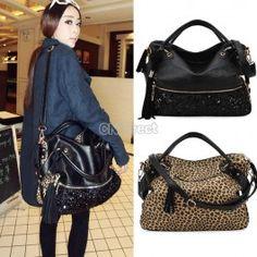 New Ladies Hobo Shoulder Bag PU Leather Satchel Cross Body Tote Women Handbag SH.  http://www.cndirect.com/european-girls-paillette-sequins-handbag-tote-shoulder-bag-1.html