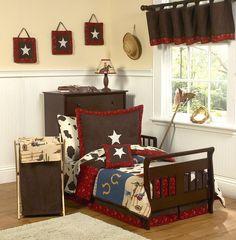 Western Theme Cowboy Comforter Toddler Bedding #kidsroomstore