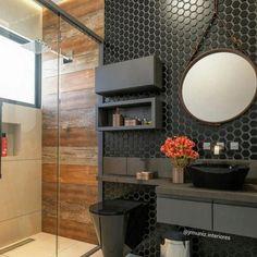 Farm house bathroom mirror black 43 Ideas for 2019 Bad Inspiration, Bathroom Inspiration, Bathroom Design Small, Modern Bathroom, Bathroom Black, Light Bathroom, Grey Bathrooms, Ideas Baños, Decor Ideas