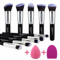 make up brush cleaner BEAKEY Makeup Brush Set, Premium Synthetic Kabuki Foundation Face Powder Blush Eyeshadow Brushes Makeup Brush Kit Essential Makeup Brushes, Best Makeup Brushes, It Cosmetics Brushes, Eyeshadow Brushes, Eyeshadow Makeup, Best Makeup Products, Beauty Products, Mac Cosmetics, Beauty Blender