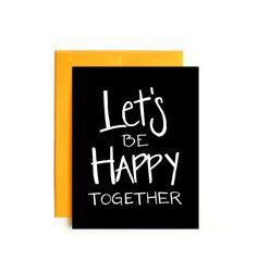 Vamos a ser felices juntos - tarjeta de San Valentín - Confetti tarjeta - mano dibujada tarjeta - tarjeta de amor - San Valentín de marido