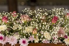 Dusty pink, Ivory and Gyp Wedding Flowers.