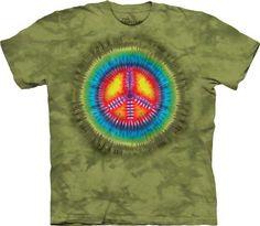 The Mountain Men's Peace Tie Dye T-shirt XXXX-Large