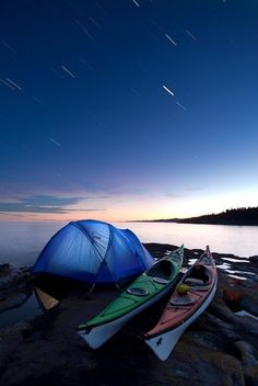 Camping under the stars and Kayaking in Grand Marais, Minnesota.