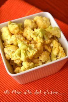"""Más allá del gluten...: """"Popcorn"""" de Coliflor (Receta SCD, GFCFSF, Vegana, RAW)"""