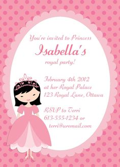 Free printable princess birthday party invitations printable party princess birthday invitation filmwisefo